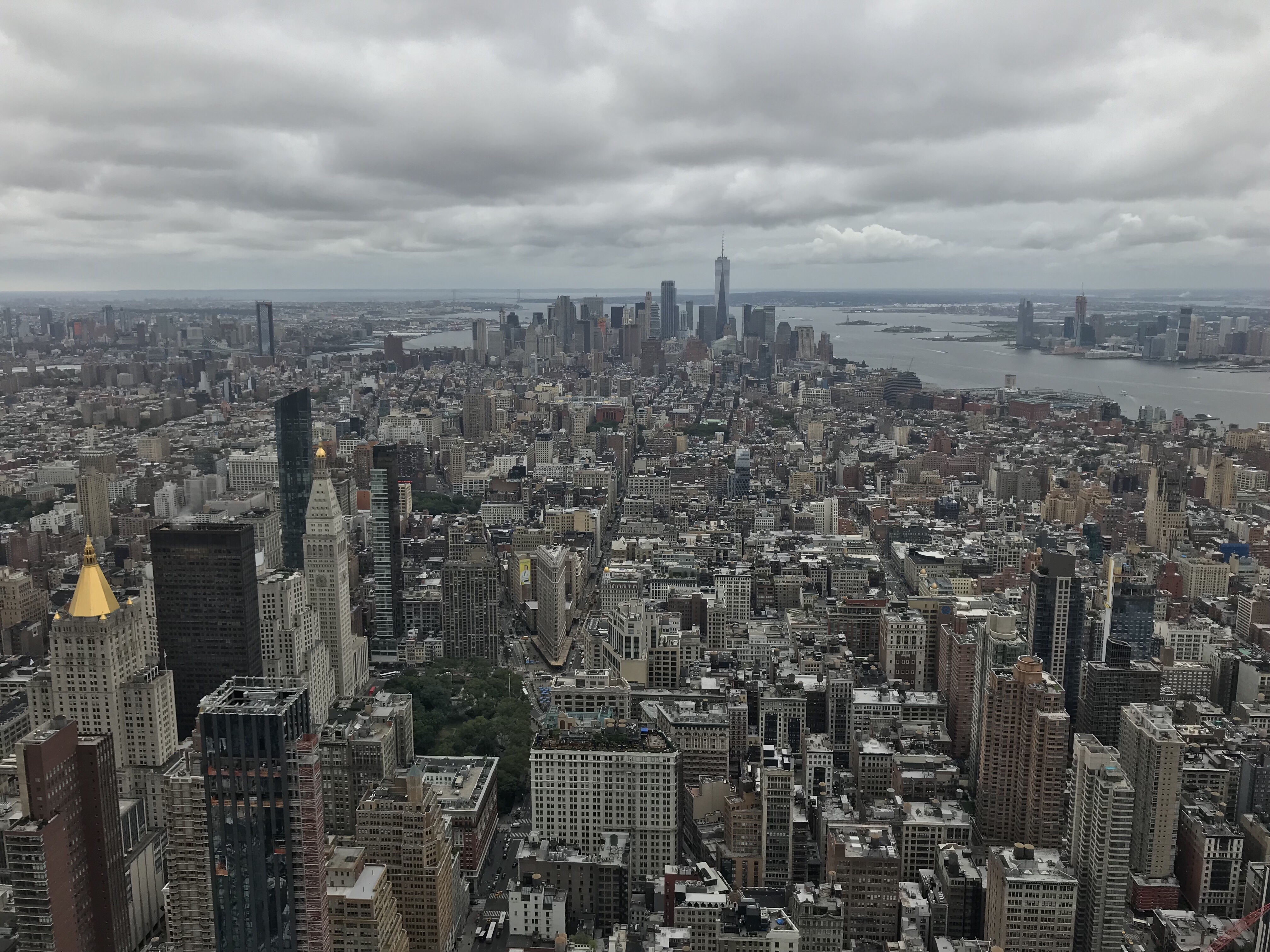 New York depuis Empire state building